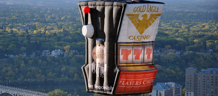 Slot machine hot air balloon