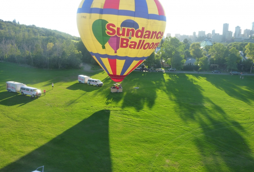Picture of Sundance Balloon ready for flight